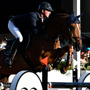 04.08.2018 The Longines Global Champions Tour Show jumping at The Royal Hospital Chelsea London UK Longines Global Champions Tour Grand Prix of London Won by Scott Brash GBR riding Hello Mr President Ben Mather GBR riding Ecplosion