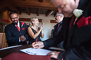 John & Michael's downtown Albuquerque NM wedding at Hotel Andaluz on Saturday, July 12, 2014.