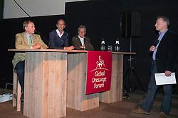 Panel, Henk Van Bergen, Hans Peter Minderhoud, Frank Kemperman, Richard Davison<br /> Global Dressage Forum<br /> Academy Bartels - Hooge Mierden 2013<br /> © Dirk Caremans