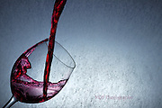 Red wine glass splash