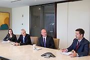 (Left to right) Amy Luberto, Evan Inglis, Dave Wilson and James Colon, during an interview at Nuveen Asset Management in downtown Chicago, Ill., on Wednesday, September 23, 2015.