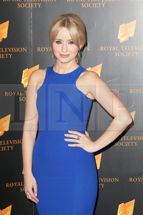 © Licensed to London News Pictures. 18/03/2014, UK. Sammy Winward, The Royal Television Society Programme Awards, Grosvenor House Hotel, London UK, 18 March 2014. Photo credit : Richard Goldschmidt/Piqtured/LNP