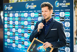 Andrej Kandare during presentation of VW Volkswagen car company as an official mobility partner of Futsal EURO 2018 in Ljubljana, Slovenia, on September 28, 2017. Photo by Vid Ponikvar / Sportida