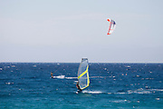 Lozari Beach. Windsurfing and para-waterskiing.