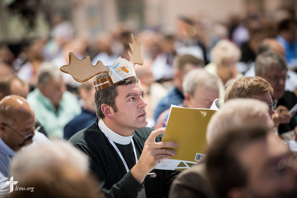 The Rev. Chadric Dietrich, pastor of Immanuel Lutheran Church in Rockwell City, Iowa, listens Tuesday, July 12, 2016, at the 66th Regular Convention of The Lutheran Church–Missouri Synod, in Milwaukee. LCMS/Michael Schuermann