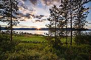 Sunset, St Hubertus Estate Winery, Kelowna, BC