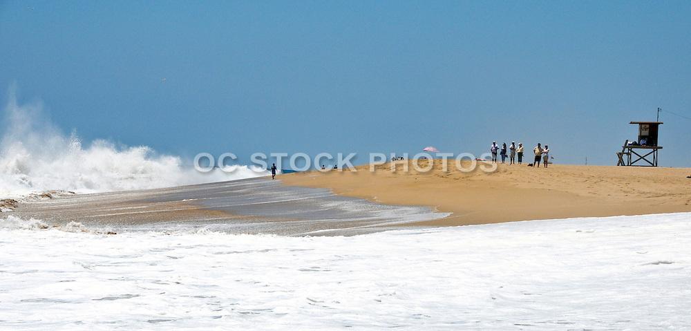 Waves Crashing on the Shoreline