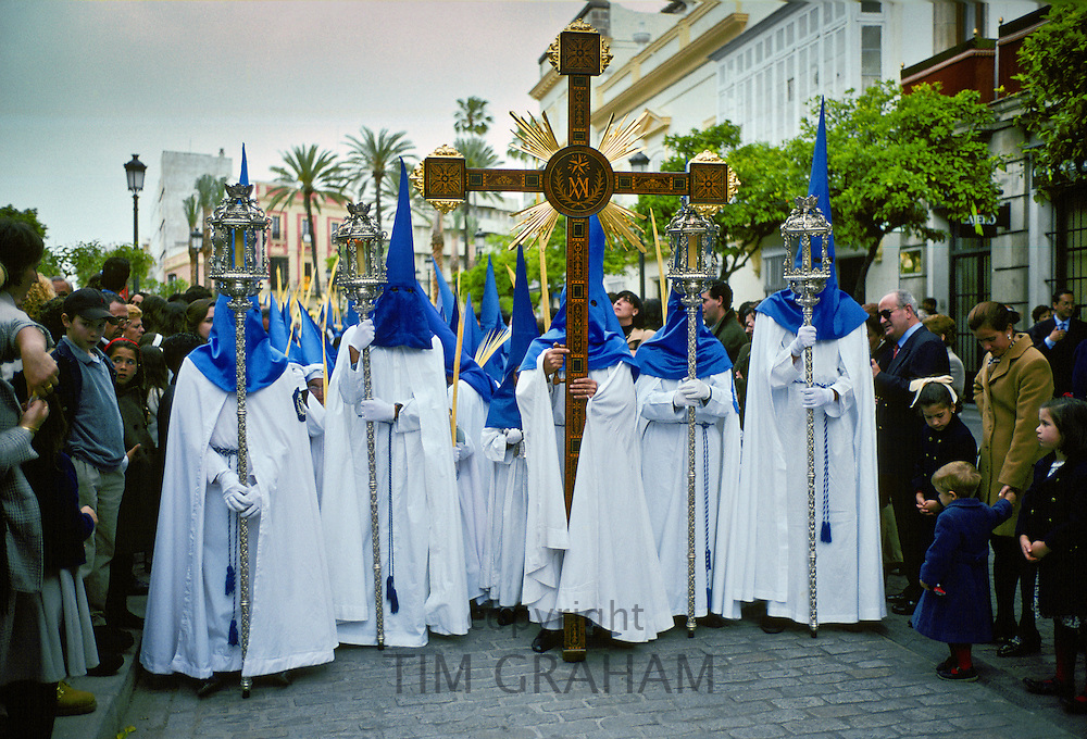 Procession for Semana Santa Holy Week in Seville , Spain. RESERVED USE - NOT FOR DOWNLOAD -  FOR USE CONTACT TIM GRAHAM