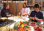 PA Dutch Chef, Betty Groff, and teens prepare foods
