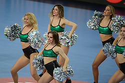 Cheerleaders during handball match between National teams of Slovenia and Denmark on Day 2 in Main Round of Men's EHF EURO 2018, on January 19, 2018 in Arena Varazdin, Varazdin, Croatia. Photo by Mario Horvat / Sportida