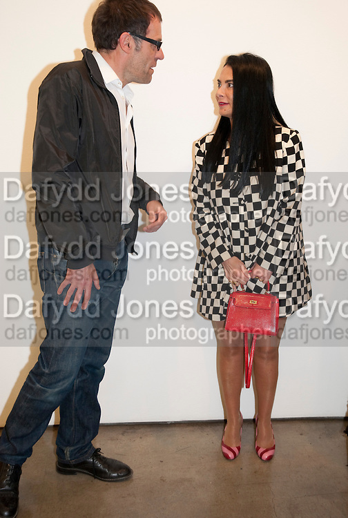 DEXTER DALWOOD;  MARY BOONE David Salle private view at the Maureen Paley Gallery. 21 Herlad St. London. E2. <br /> <br />  , -DO NOT ARCHIVE-© Copyright Photograph by Dafydd Jones. 248 Clapham Rd. London SW9 0PZ. Tel 0207 820 0771. www.dafjones.com.