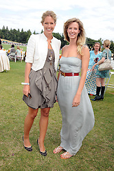 Left to right, sisters MARINA FOGLE and OLIVIA HUNT at the 2008 Veuve Clicquot Gold Cup polo final at Cowdray Park Polo Club, Midhurst, West Sussex on 20th July 2008.<br /> <br /> NON EXCLUSIVE - WORLD RIGHTS