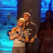 NLD/Weesp/20070311 - 1e Live uitzending Just the Two of Us, deelnemers, Monique Smit en Xander de Buisonje