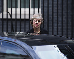 © Licensed to London News Pictures . 05/07/2016 . London , UK . THERESA MAY leaves . Conservative Party cabinet meeting on Downing Street , London . Photo credit: Joel Goodman/LNP