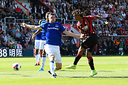 Nathan Ake (5) of AFC Bournemouth shoots at goal during the Premier League match between Bournemouth and Everton at the Vitality Stadium, Bournemouth, England on 15 September 2019.