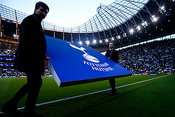 Tottenham Hotspur board is put in place - Mandatory by-line: Robbie Stephenson/JMP - 30/04/2019 - FOOTBALL - Tottenham Hotspur Stadium - London, England - Tottenham Hotspur v Ajax - UEFA Champions League Semi-Final 1st Leg