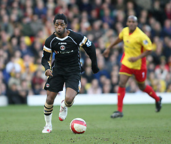 London, England - Saturday, March 3, 2007: Charlton Athletic's Alexandre Song in action in the game with Watford's Adrian Mariappa in the Premiership match at Vicarage Road. (Pic by Chris Ratcliffe/Propaganda)