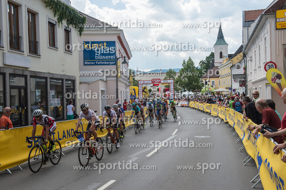 04.07.2017, Pöggstall, AUT, Ö-Tour, Österreich Radrundfahrt 2017, 2. Etappe von Wien nach Pöggstall (199,6km), im Bild Etappenziel Pöggstall, Niederösterreich // stage finish at Pöggstall during the 2nd stage from Vienna to Pöggstall (199,6km) of 2017 Tour of Austria. Pöggstall, Austria on 2017/07/04. EXPA Pictures © 2017, PhotoCredit: EXPA/ Reinhard Eisenbauer
