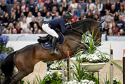 ROBERT Olivier (FRA), Eros<br /> Göteborg - Gothenburg Horse Show 2019 <br /> Gothenburg Trophy presented by VOLVO<br /> Int. jumping competition with jump-off (1.55 m)<br /> Longines FEI Jumping World Cup™ Final and FEI Dressage World Cup™ Final<br /> 06. April 2019<br /> © www.sportfotos-lafrentz.de/Stefan Lafrentz