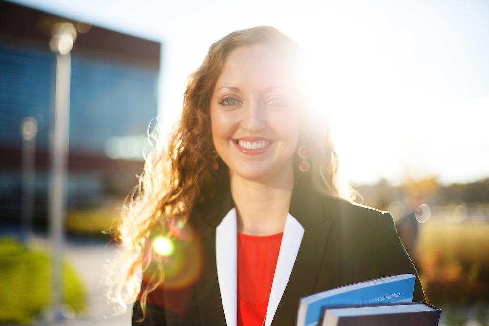 MBA Student Veteran Nicole Higgins.<br /> <br /> <br /> Nov. 05, 2015