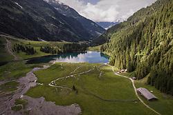 THEMENBILD - Blick auf den Hintersee mit seiner Landschaft, aufgenommen am 23. Juni 2019 in Mittersill, Österreich // View of the Hintersee with its landscape, Mittersill, Austria on 2019/06/23. EXPA Pictures © 2019, PhotoCredit: EXPA/ JFK