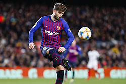January 30, 2019 - Barcelona, Spain - FC Barcelona defender Gerard Pique (3) during the match FC Barcelona v Sevilla CF, for the round of 8, second leg of the Copa del Rey played at Camp Nou  on 30th January 2019 in Barcelona, Spain. (Credit Image: © Mikel Trigueros/NurPhoto via ZUMA Press)