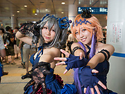 "Amateur cosplayers show off their homemade outfits around the ""home of cosplay"" Oasis 21, Nagoya."