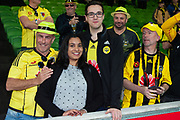 MELBOURNE, VIC - NOVEMBER 09: Wellington fans smile and cheer on the players at the Hyundai A-League Round 4 soccer match between Melbourne City FC and Wellington Phoenix on November 09, 2018 at AAMI Park in Melbourne, Australia. (Photo by Speed Media/Icon Sportswire)