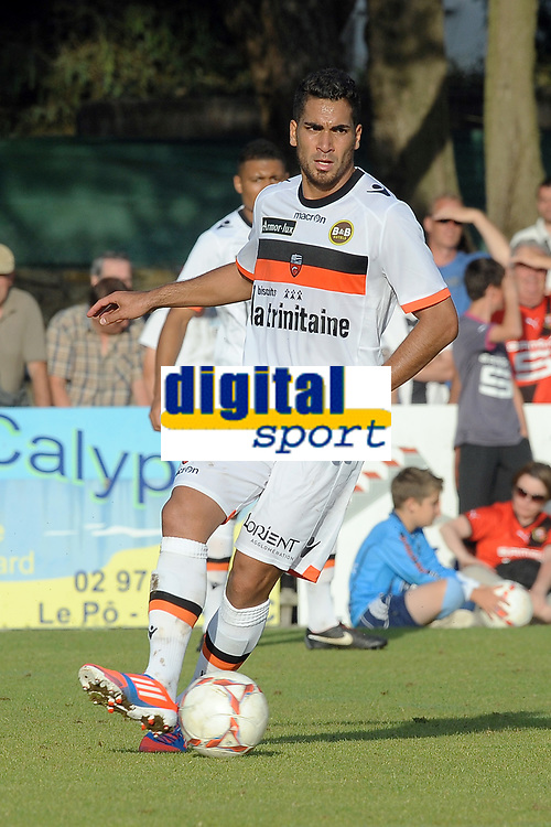 FOOTBALL - FRIENDLY GAMES 2012/2013 - STADE RENNAIS v FC LORIENT - 21/07/2011 - PHOTO PASCAL ALLEE / DPPI - WESLEY LAUTOA (FCL)