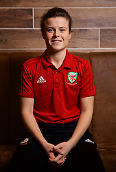 NEWPORT, WALES - Thursday, January 17, 2019: Wales' Hayley Ladd during a media session at the Coldra Court Hotel ahead of the International Friendly game against Italy. (Pic by David Rawcliffe/Propaganda)