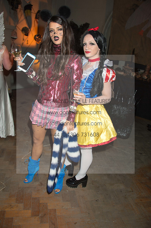 Left to right, BIP LING and LOUBY McLOUGHLIN at the Veuve Clicquot Widow Series launch party hosted by Nick Knight and Jo Thornton MD Moet Hennessy UK held at The College, Central St.Martins, 12-42 Southampton Row, London on 29th October 2015.