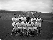 16/02/1958<br /> 02/16/1958<br /> 16 February 1958<br /> Soccer: St. Patrick's Athletic v Tycor Athletic (Waterford), 1st round F.A.I. Cup at Dalymount Park, Dublin. <br /> The Tycor Athletic team.