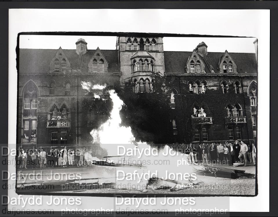 Burning Boat, Christchurch college, Oxford. 1985,