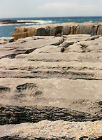 Rocky shoreline in the Burren, County Clare, Ireland