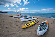 Fun times downwind paddle boarding SUP on the Maliko run on Maui's North Shore, Hawaii.  Maui Dream Retreat with SUP the Mag.