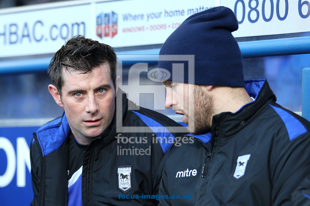 Picture by Richard Calver/Focus Images Ltd +447792 981244<br /> 11/01/2014<br /> Veteran striker, Alan Lee (left) of Ipswich Town on the substitutes bench before the Sky Bet Championship match against Queens Park Rangers at Portman Road, Ipswich.