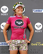 Gold Coast, Australia - March 6: Steph Gilmore on the podium at the Roxy Pro Gold Coast 2010 at Snapper Rocks on the Gold Coast, March 6, 2010 Photo by Matt Roberts/MATTRimages.com.au | Image ID: MTR_6347.jpg