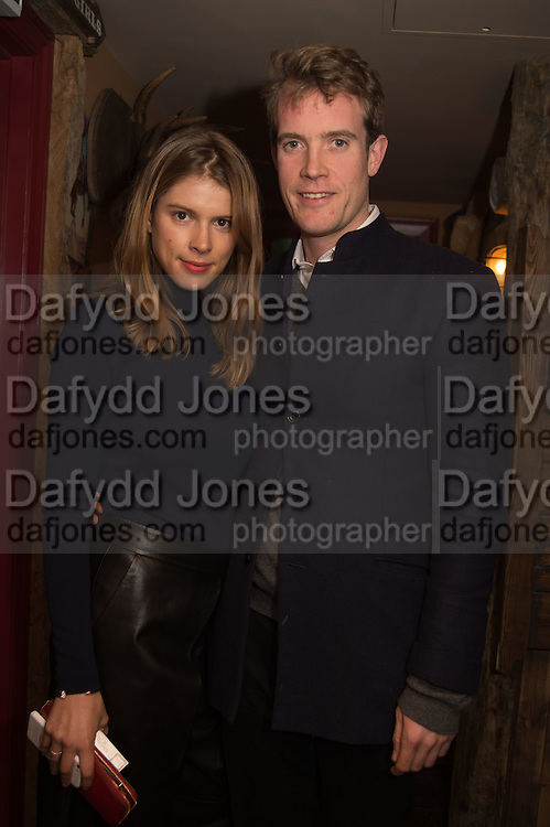 MONICA AINLEY; FRANCOIS O'NEILL, The launch of Beaver Lodge in Chelsea, a cabin bar and dance saloon, 266 Fulham Rd. London. 4 December 2014