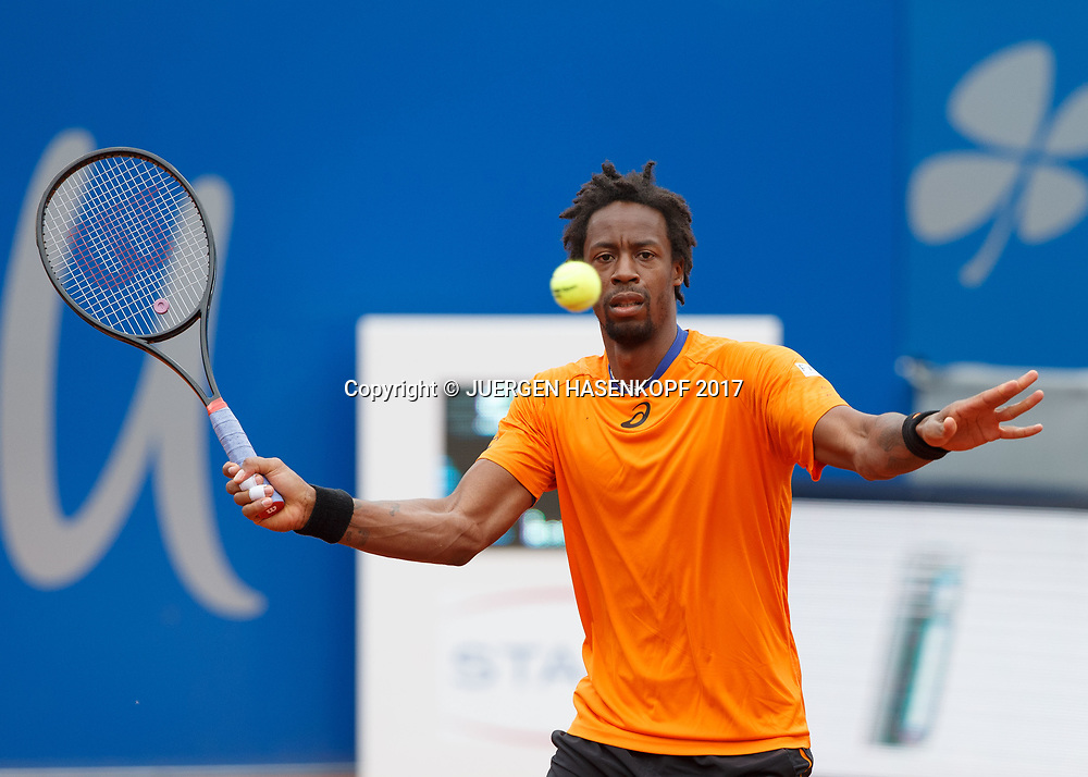GAEL MONFILS (FRA)<br /> <br /> Tennis - BMW Open 2017 -  ATP  -  MTTC Iphitos - Munich -  - Germany  - 4 May 2017.