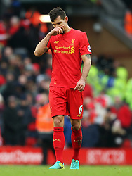 Dejan Lovren of Liverpool looks dejected - Mandatory by-line: Matt McNulty/JMP - 21/01/2017 - FOOTBALL - Anfield - Liverpool, England - Liverpool v Swansea City - Premier League