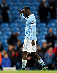 Bacary Sagna of Manchester City looks dejected as he leaves the field - Mandatory byline: Matt McNulty/JMP - 07966 386802 - 21/11/2015 - FOOTBALL - Etihad Stadium - Manchester, England - Manchester City v Liverpool - Barclays Premier League