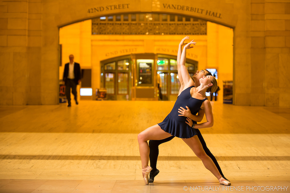 Grand Central Station, New York, NY. Dance As Art- The New York Photography Project featuring Jaclyn Wheatley and Luke Muscat.