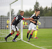 Dundee new boy Mark O&rsquo;Hara congratulates Cammy Kerr on his winning goal - Dumbarton v Dundee, pre-season friendly at the Cheaper Insurance Direct Stadium, Dumbarton<br /> <br />  - &copy; David Young - www.davidyoungphoto.co.uk - email: davidyoungphoto@gmail.com