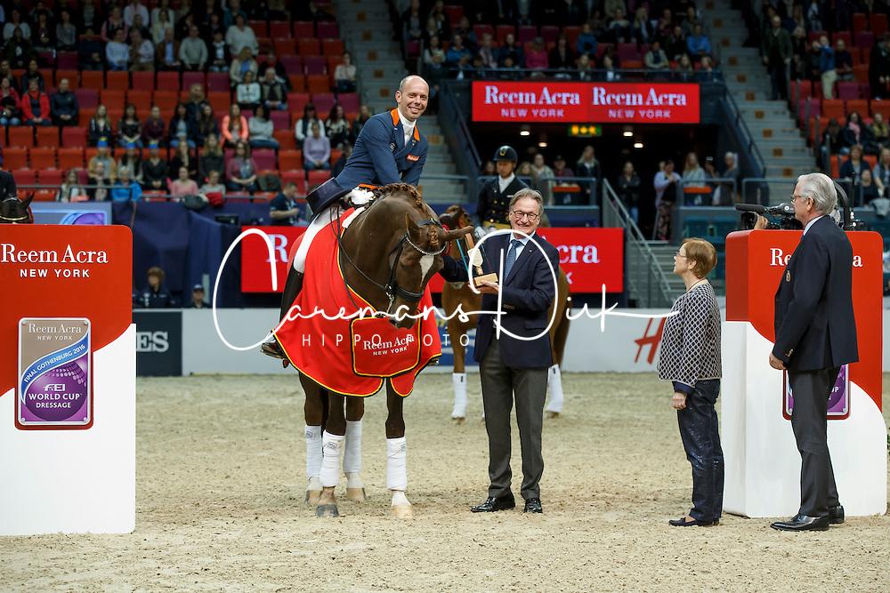 Minderhoud Hans Peter, (NED), Glock's Flirt<br /> Grand Prix<br /> Reem Acra FEI World Cup Dressage - Goteborg 2016<br /> © Hippo Foto - Dirk Caremans<br /> 25/03/16