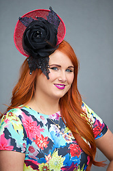 LIVERPOOL, ENGLAND - Friday, April 4, 2014: Claire Allen from Edinburgh during Ladies' Day on Day Two of the Aintree Grand National Festival at Aintree Racecourse. (Pic by David Rawcliffe/Propaganda)