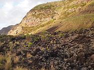 Volcanic landscape at Ponta da Ferraria, Sao Miguel Azores.
