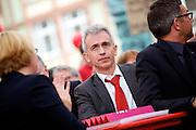 Frankfurt am Main | 21.09.2013<br /> <br /> Endspurt-Kundgebung auf dem Frankfurter R&ouml;merberg zum Landtagswahlkampf der SPD (Sozialdemokratische Partei Deutschlands) 2013, hier: <br /> Peter Feldmann.<br /> <br /> ABDRUCK/NUTZUNG HONORARPFLICHTIG!<br /> <br /> &copy;peter-juelich.com<br /> <br /> [No Model Release | No Property Release]
