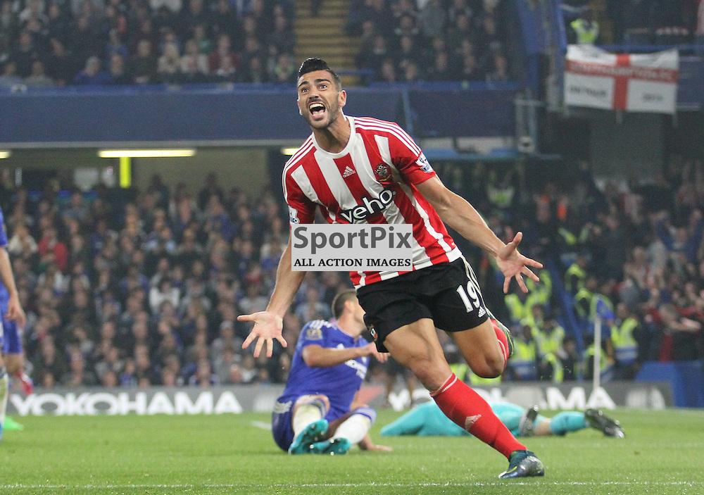 Pelle shows his joy after goal against Chelsea