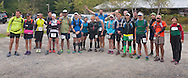 Cragsmoor, New York - Runners pose for a group photograph at Sam's Point Preserve before competing in the Shawangunk Ridge Trail Run/Hike 32-mile race on Sept. 20, 2014.