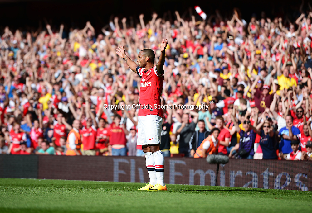 4th August 2013 - Emirates Cup - Arsenal v Galatasary - Theo Walcott of Arsenal celebrates scoring the opening goal - Photo: Marc Atkins / Offside.